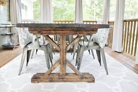 Rustic Dining Room Table Plans Outdoor Dining Room Diy Table The Soulful House