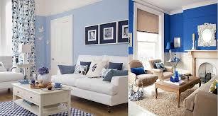 blue and white living room blue room white