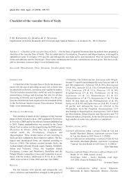 (PDF) Checklist of the vascular flora of Sicily