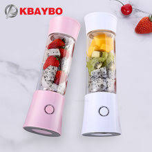 kbxstart usb rechargeable portable blender mixer 3gear 13000 min personal coffee easy mini liquidificador with two heads