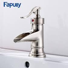 <b>Fapully Bathroom</b> Faucet <b>Bathroom Basin</b> Mixer Tap Brushed Nickel ...