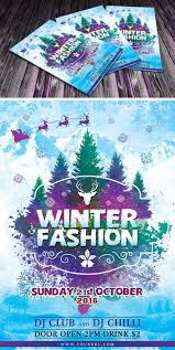 winter party flyer template design resources winter party flyer template