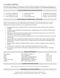 resources administrator resume resume samples