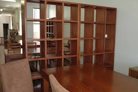 living room dividers ideas attractive: glamorous solid wooden bookshelf wall divider for your living