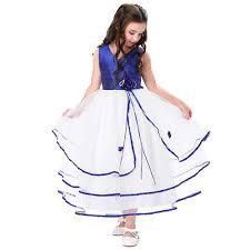 Pretty <b>Pleated</b> Bodice Tulle Netting Floor Length <b>Flower Girl Dress</b>