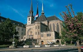 cathedral of the blessed virgin in luxembourg city cathacdrale de notre dame