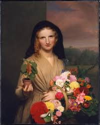 Charles Cromwell Ingham | The <b>Flower Girl</b> | American | The ...
