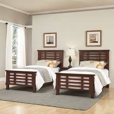 Bedroom For Two Twin Beds Cabin Creek Two Twin Beds And Nightstand Homestyles