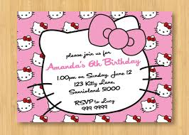 best ideas about hello kitty invitations hello hello kitty printable birthday party invitation personalized 5 x 7