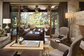 fancy ranch house living room design with brown chaise amazing amazing living room ideas