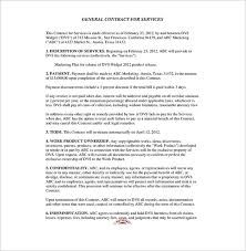 general contract for services basic sample event planning contract templates
