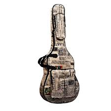 Bemodst Folk Acoustic Guitar Gig Bag Soft Case Strap <b>PU</b> Padded