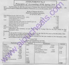 aiou solve assignment no code principles of accounting second solved assignment of principles of accounting spring 2014 for code 438
