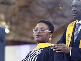 Congratulatiosn to Ms Lindiwe Kunene pictured with Acting Registrar Ms Baatile poo jpg