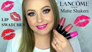 <b>Lancôme Matte Shakers</b> - Lip Swatches - YouTube