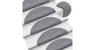 <b>15</b> Self-adhesive <b>Stair Mats</b> Needle Punch 54x16x4cm Light Grey ...