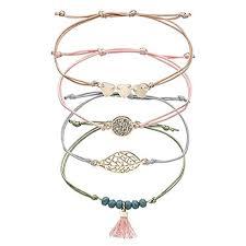 Topsaire <b>Bracelets</b> Charms for Woman Girls Chain <b>Bohemian</b> Leaf ...