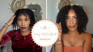 Transformation: Brazilian <b>Kinky Curly Lace</b> Front Wig OMG Queen Hair