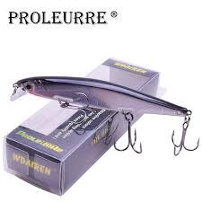 Proleurre 1PCS <b>Minnow Fishing Lure</b> Laser Hard Artificial <b>Bait</b> 3D ...