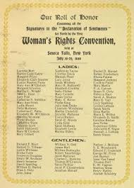 the seneca falls convention setting the national stage for  our roll of honor  july