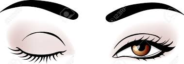 Image result for cartoon images of eye makeup
