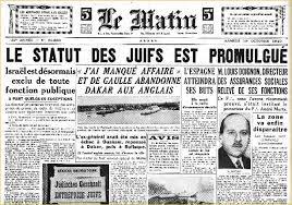 「Loi du 3 octobre 1940 portant le statut des juifs」の画像検索結果