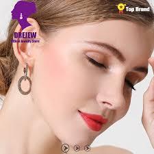 <b>DREJEW</b> Gold Silver Blue Rose Black Cute Circle Hoop Earrings ...
