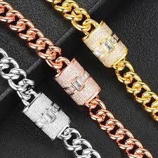 <b>Siscathy 2019 Hot</b> Trendy Punk Women Bracelets Stackable Cubic ...