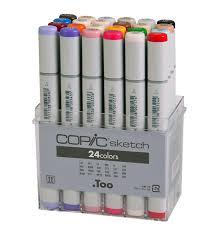 <b>Copic</b> Sketch Marker 24 Color Set | Rex <b>Art Supplies</b>