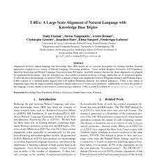 <b>T</b>-<b>REx: A</b> Large Scale Alignment of Natural Language with ...
