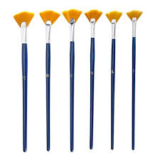 NGWALL Paint Brush Set Fan Nylon Acrylic ... - Amazon.com