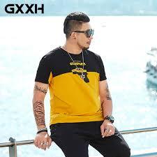 <b>2019 Fashion Printed</b> Tee Shirt Men <b>Summer</b> Black Yellow ...
