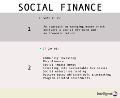 social finance helping social entrepreneurs finding the money what is social finance