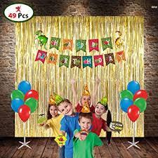 <b>Dinosaur</b> Combo Include 3 Foil Curtains, 1 <b>Happy</b> Birthday <b>Banner</b> ...
