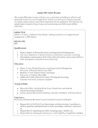 sample resume for experienced hr recruiter hr resume examples hr analyst resume