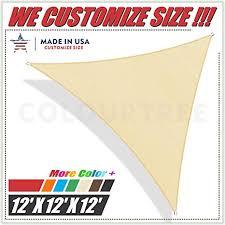 ColourTree 2nd Gen 12' x 12' x 12' Beige Sun Shade Sail Triangle ...