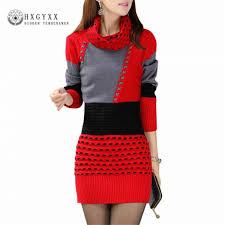 <b>Autumn Winter</b> Fashion Sweaters Dresses Turtle Neck Full Sleeve ...