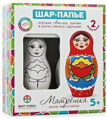 <b>Шар</b>-папье <b>Набор для изготовления</b> игрушек Матрешка 2 шт ...