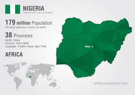 Image result for developing countries nigeria map