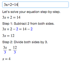 For example  enter  x      into the text box to get a step by step explanation of how to solve  x