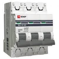 <b>Автоматический выключатель EKF Proxima</b> ВА 47-63 3P 4,5 кА ...