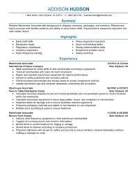job warehouse job description resume warehouse job description resume template