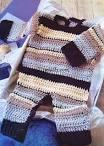 Вязание для новорожденных крючком. комбинезон