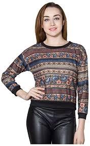 Buy Throwkart <b>Women's Slim</b> Fit <b>Winter</b> Top (Multi-Coloured) at ...