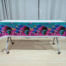 <b>108cm*180cm</b> Disposable <b>Trolls Birthday</b> Tablecloths Trolls Kids ...