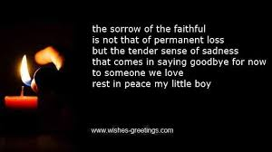 Poems on death of a child and condolences funeral for children via Relatably.com