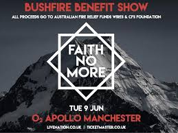 Buy tickets for <b>Faith No More</b>: Bushfire Benefit Show at O2 Apollo ...