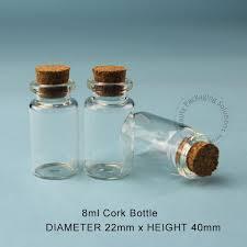 <b>100pcs</b>/<b>Lot</b> Promotion 8ml Glass Cork Bottle Sample Vial 4/15OZ ...