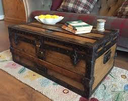 antique steamer trunk blanket chest coffee table pine travel toy storage box in chest coffee table multifunction furniture