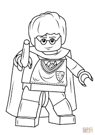 Small Picture Lego Harry Potter Coloring Pages Lego Rubeus Hagrid Minifigure